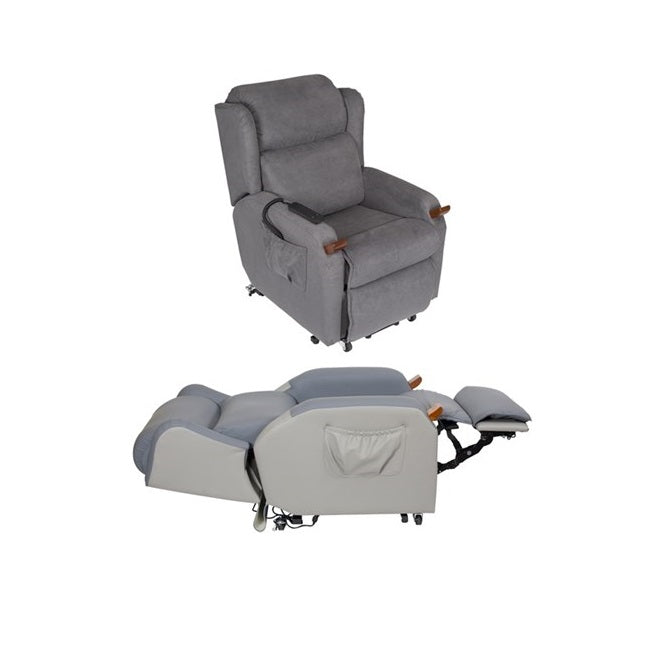 Lift Chair Air Comfort Compact Dual Motor Large Macrosuede [Ac59063] - Think Mobility