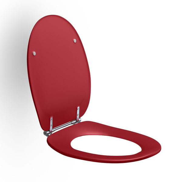 Dania Coloured Toilet Seat With Lid Red [Ep-R37035B84] - Think Mobility