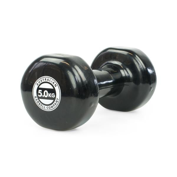 Dumbell 5Kg Pvc Coated, Black [Aus-Dv5] - Think Mobility