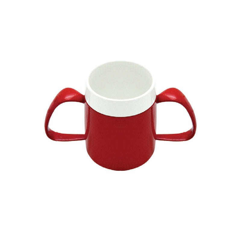Vital Ergo, Double Handle, 200Ml Red With Conically Shaped Inner Cup [12489] - Think Mobility