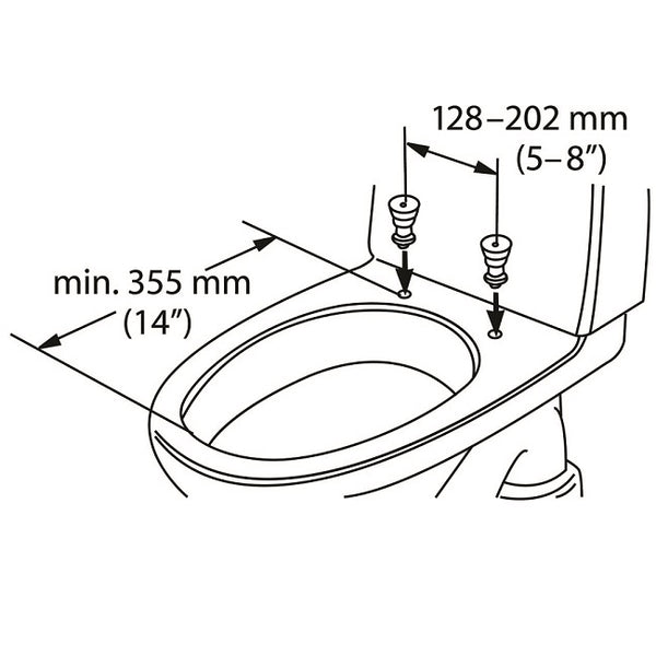 Etac Hi-Loo Toilet Seat Raiser Fixed With Arm Supports 10Cm [80301317-2] - Think Mobility
