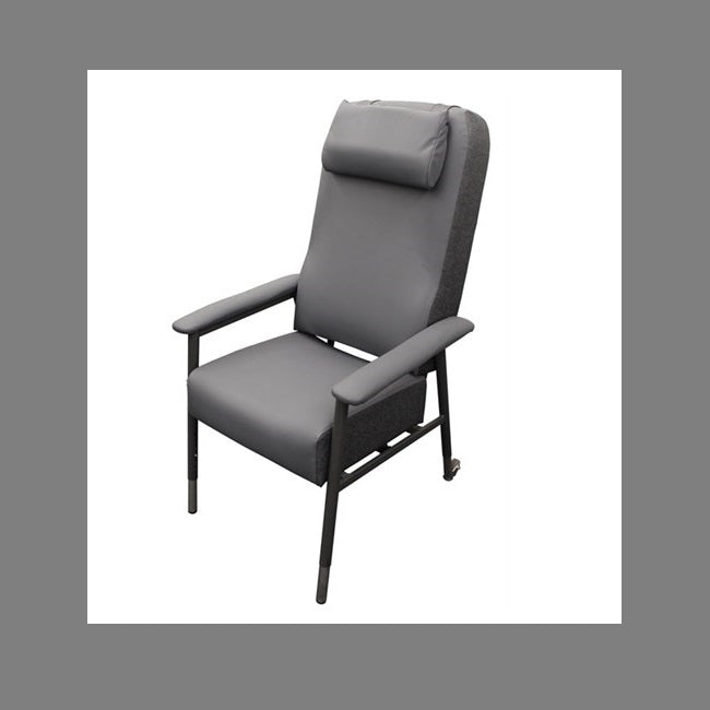 Fusion Pressure Care High Back Chair Charcoal 52Cm [18030] - Think Mobility