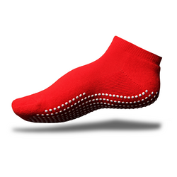 Gripperz Anklet Sock Non Slip Medium Red [Red-Med] - Think Mobility