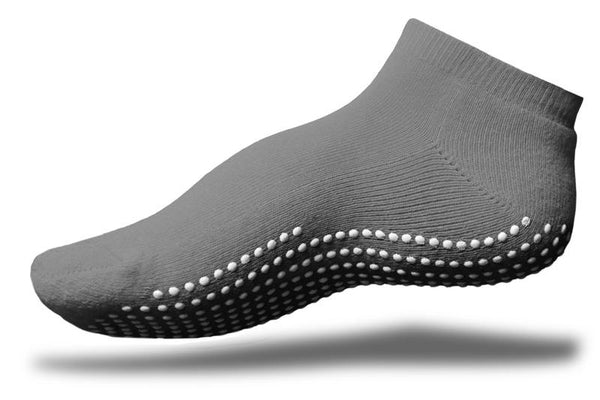Gripperz Anklet Sock Non Slip Medium Grey [Gry-Med] - Think Mobility