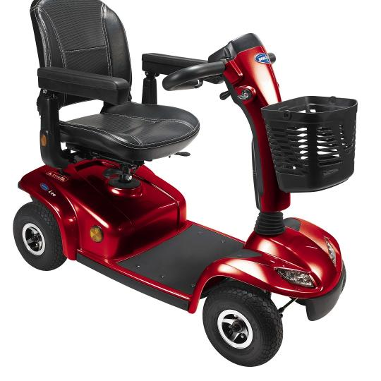 Scooter Leo 4 Wheeled Red [Pkg-Hs-528-Rd2] - Think Mobility