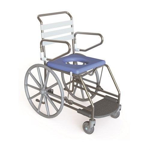 Shower Commode Self Propelled Weight Bearing Footplates Kcare [Ka123S] - Think Mobility