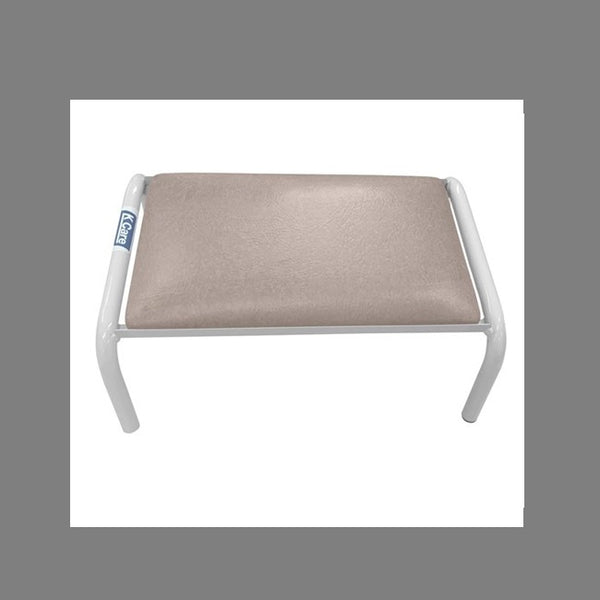 Footstool Padded Angled 200Mm High Vanilla Frame And Champagne Upholstery [Kf56005] [Ka560Lv03] - Think Mobility