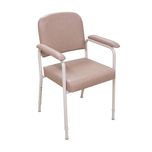 Kcare Utility Chair- Adjustable Height Vanilla Frame And Champagne Uph [Ka586Kdv03] - Think Mobility