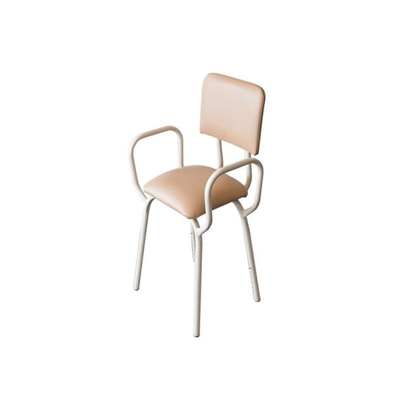 Kitchen Propping Stool Fawn With Arms & Backrest R&r [18101Kd] - Think Mobility