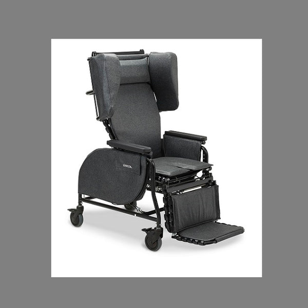 "Broda Midline Full Recliner 20"" Charcoal [Mid 20"" - Charcoal] - Think Mobility"