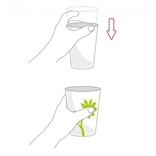 Ornamin Non Slip Cup Flower Green/yellow [8709] - Think Mobility