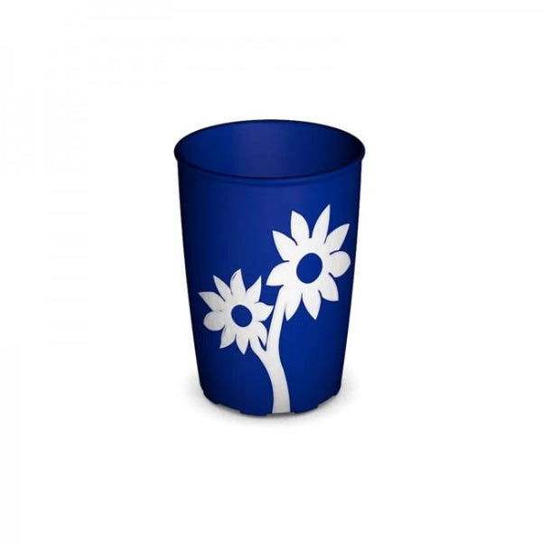 Ornamin Non Slip Cup Flower Blue/white [9484] - Think Mobility