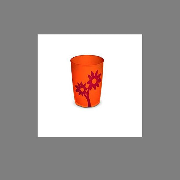 Ornamin Non Slip Cup Flower Orange/red [8707]