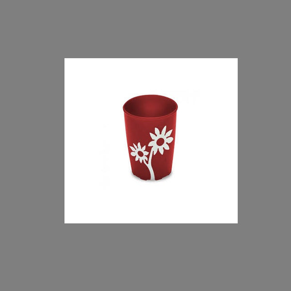 Ornamin Non Slip Cup Flower Red/white [9488] - Think Mobility