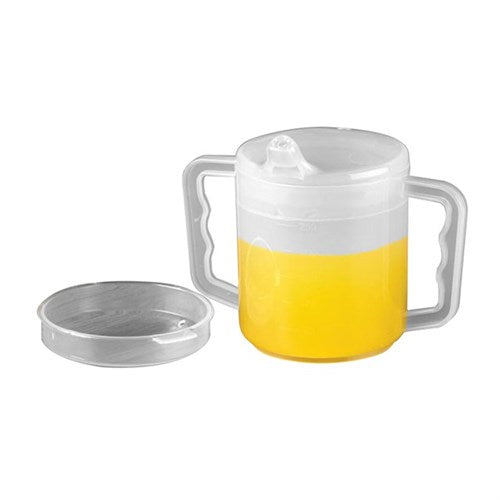 Mug Two Handle With Two Lids (Spont And Splash) Homecraft [Aa5720]