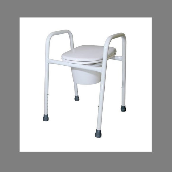 Over Toilet R & R Frame Aluminium With Lid 52Cm [12247A52] - Think Mobility