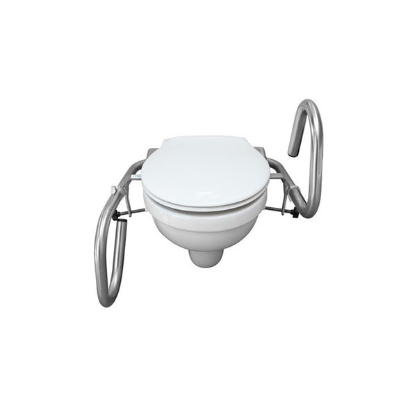 Toilet Throne 3 In 1 Rail Polished Stainless Steel [R31Ps] - Think Mobility