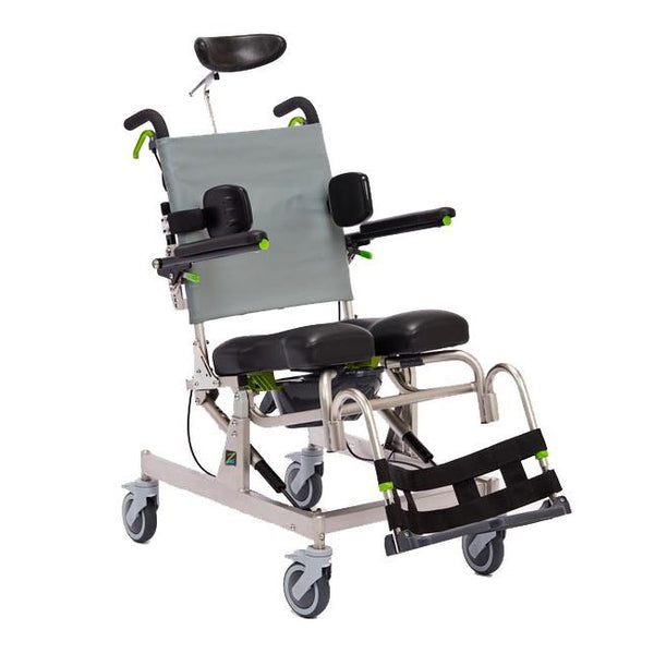 Raz-At Attendant Tilt Mobile Shower Commode [Raz-At 15 Frame] [Z300S] - Think Mobility