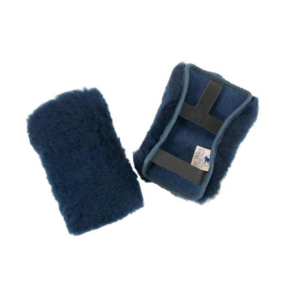 Sheepskin Shear Comfort Footplate Protectors - Wheelchair [002121-Xdft] - Think Mobility