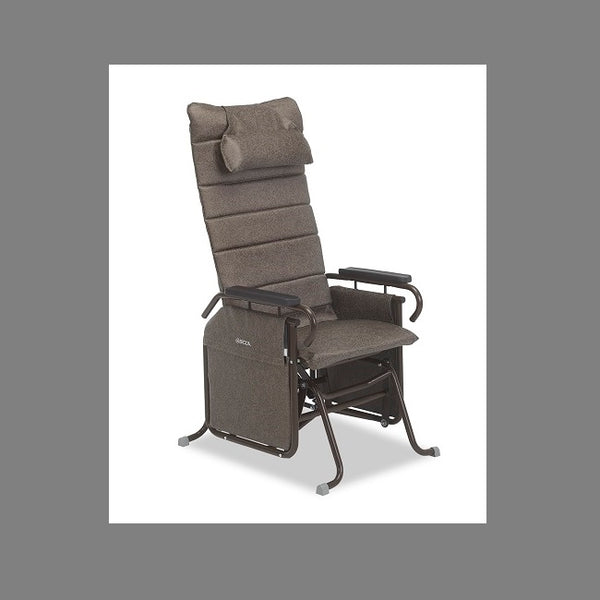 Broda Tranquille 100-20Al Auto-Locking Glider Tall Back Charcoal [100-20Al Charcoal]