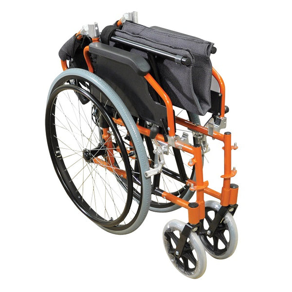 "Wheelchair Aidapt Lightweight 18"" Self Propelled Orange [Va165O]"
