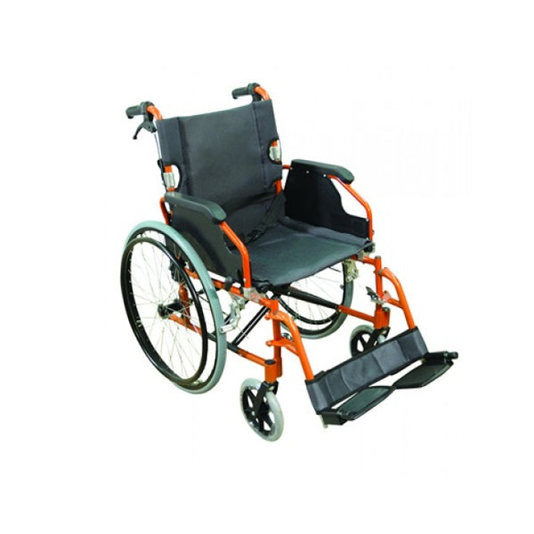 "Wheelchair Aidapt Lightweight 18"" Self Propelled Orange [Va165O] - Think Mobility"