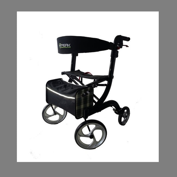 Walker Ellipse Lite Aluminium Black Medium [Al-208S-37B/M] - Think Mobility
