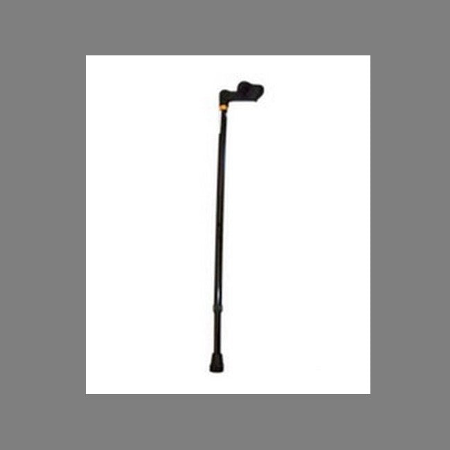 Walking Stick Palm Grip Handle For Left Hand (Small) Black [Pcp10108s] - Think Mobility