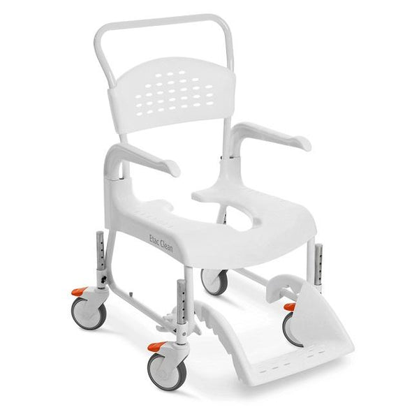 Etac Clean Mobile Shower Commode Height Adjustable White [80229208] - Think Mobility
