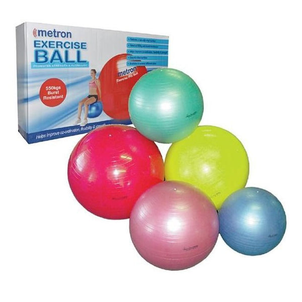 Metron Fitness Ball 45Cm Yellow [Tha-Metball45Cm] - Think Mobility