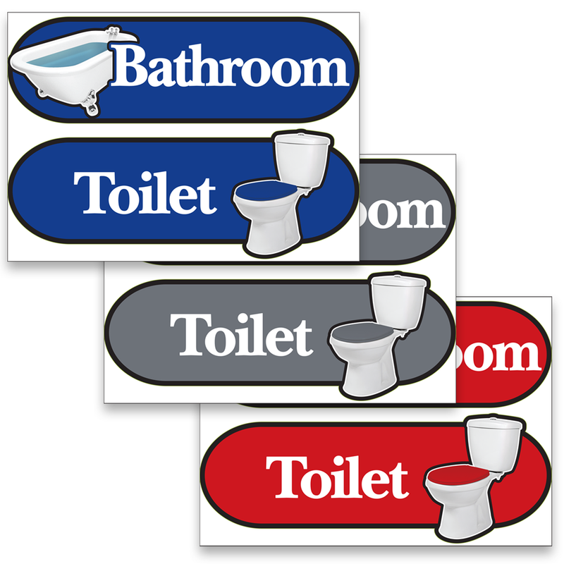 Betterliving Orientation Signage Toilet Sticker Yellow [Bl0036T]