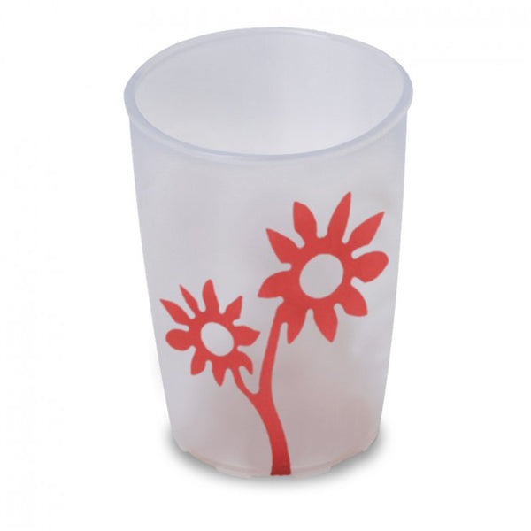 Ornamin Non Slip Cup Flower White/red [8713]