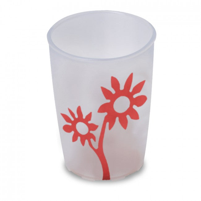 Ornamin Non Slip Cup Flower White/red [8713] - Think Mobility