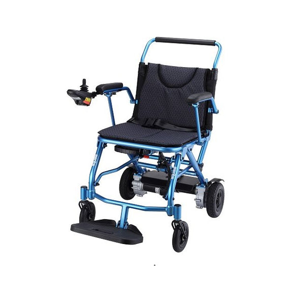 Power Wheelchair Merits Fold & Go Blue [P113-Bl] - Think Mobility
