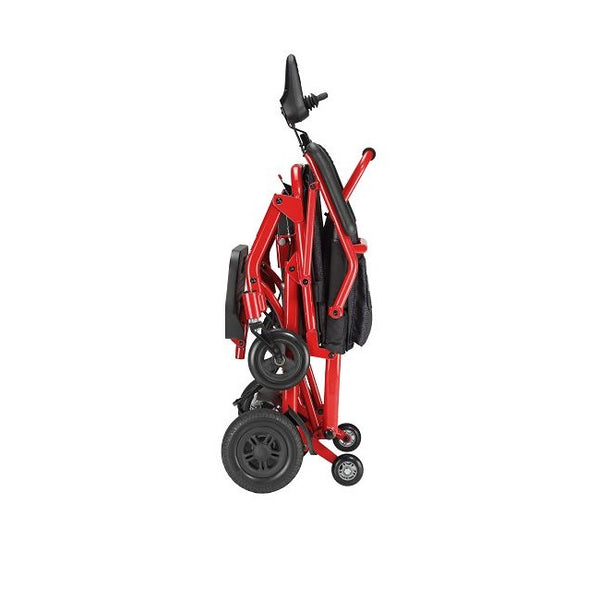 Power Wheelchair Merits Fold & Go Red