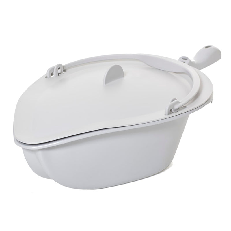 Etac Clean/swift Mobile Pan And Lid With Handle Grey [80209255] - Think Mobility