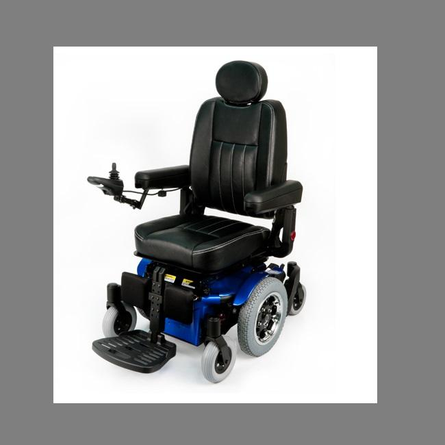 "Power Wheelchair Quickie Pulse 6 Sc - Centremount Elr W/7.5"" Power Articulation [195H127] - Think Mobility"