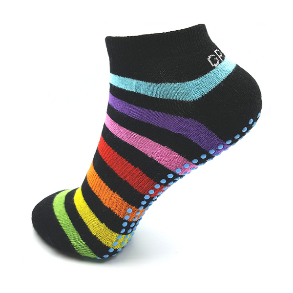 Gripperz Active Anklet Sock Non Slip Medium Rainbow [Rbw-Med] - Think Mobility