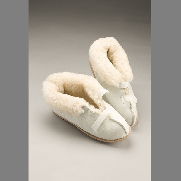 Sheepskin Slippers Closed Toe Medium [Md0290] [3084M] - Think Mobility