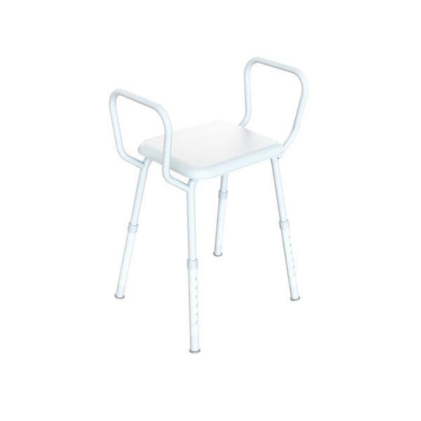 Shower Stool Kcare Zinc With Arms [Ka222Za] - Think Mobility