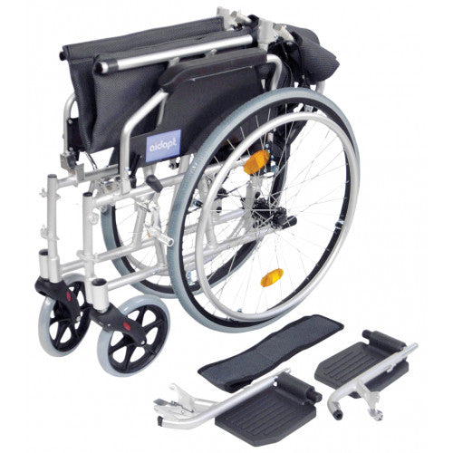 "Wheelchair Aidapt Lightweight 18"" Self Propelled Silver [Va165S] - Think Mobility"
