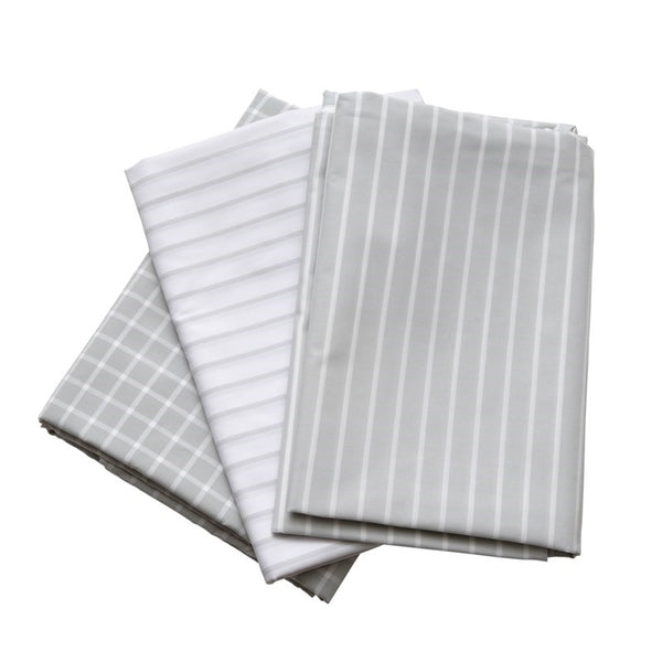 Wendylett Slide Sheet Grey/white Striped 140X200  [1638] - Think Mobility