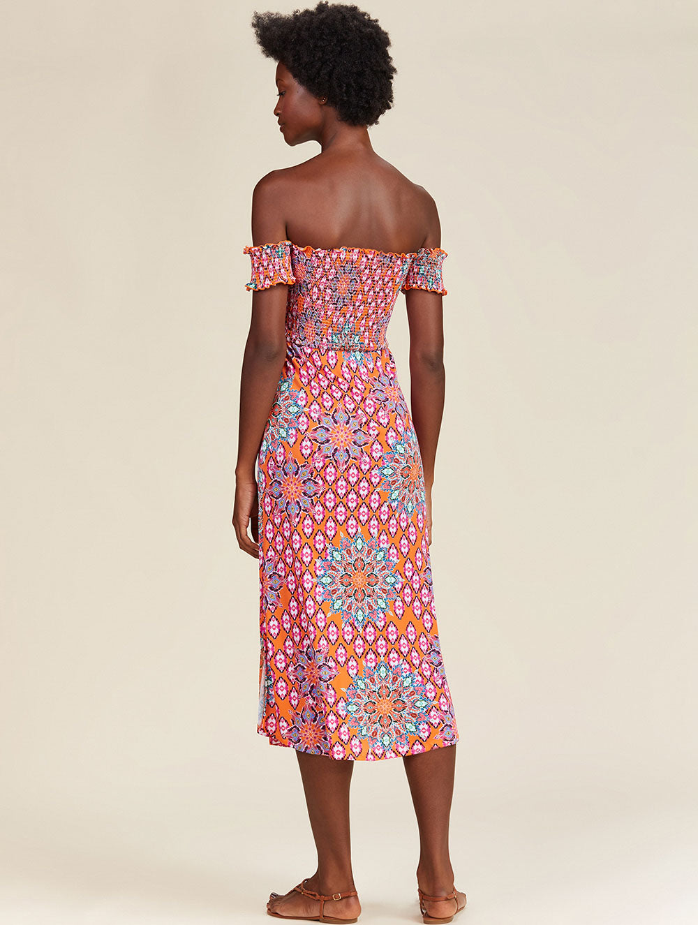 Ladakh Printed strapless dress with short