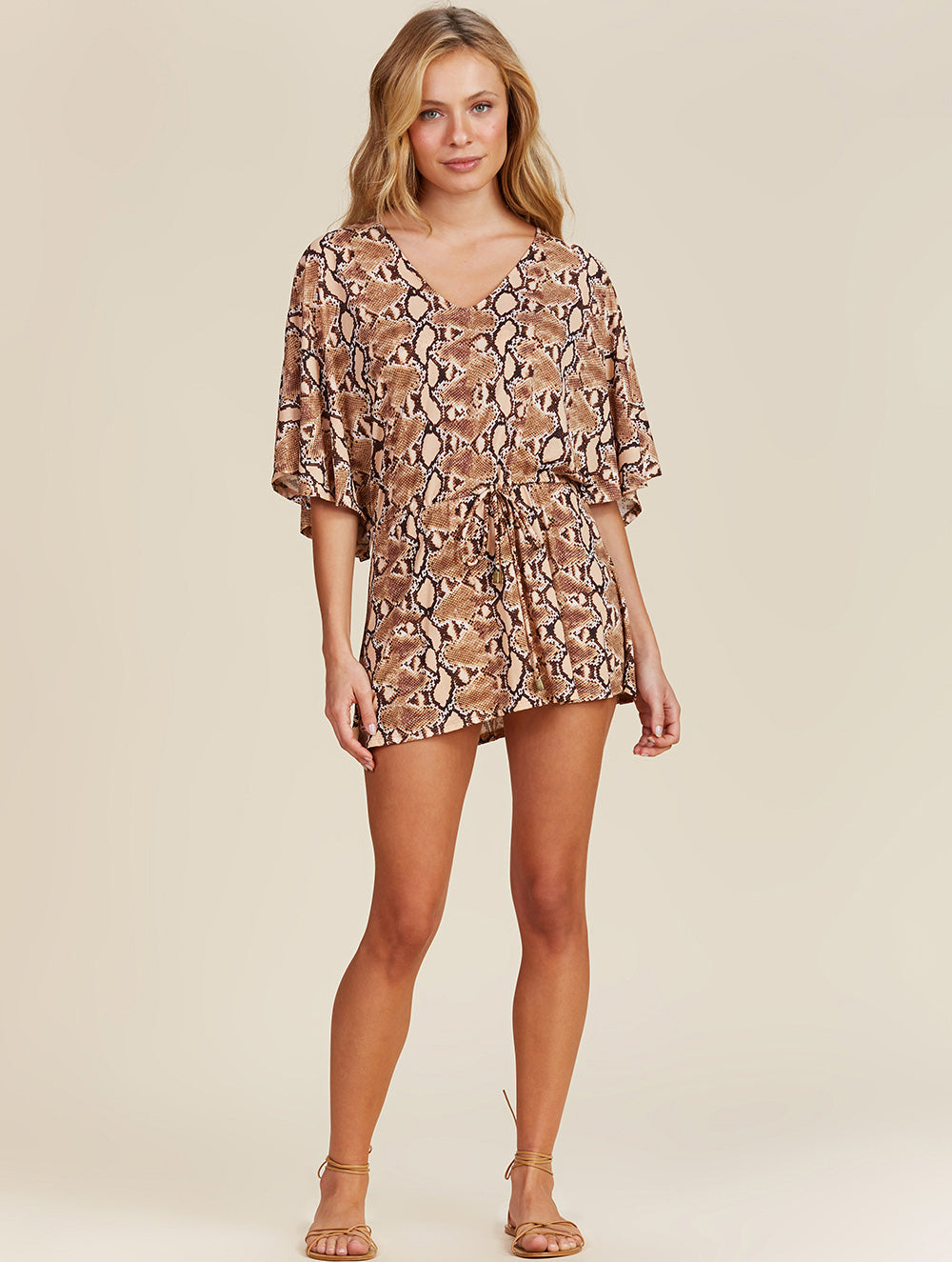 Shantal Short printed Kaftan