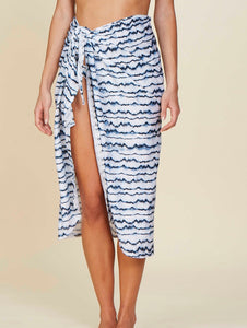 Agra Printed midi Sarong. Can be tied at the waist.