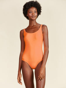 Solid-color Halter-top One-piece