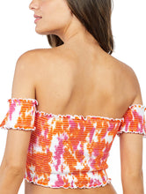 Load image into Gallery viewer, Tie Dye Lastex Strapless Cropped