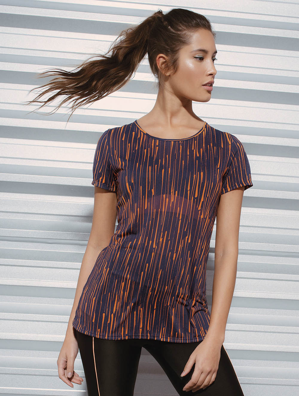 Drop short-sleeve T-shirt with cutouts