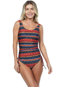 Gana Low-Cut One Piece Swimsuit