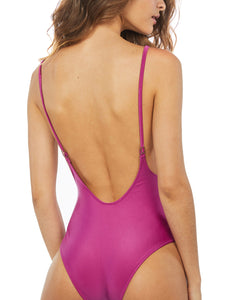 Solid-Color One-piece with Thin Straps